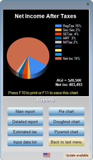 Pie chart for web10